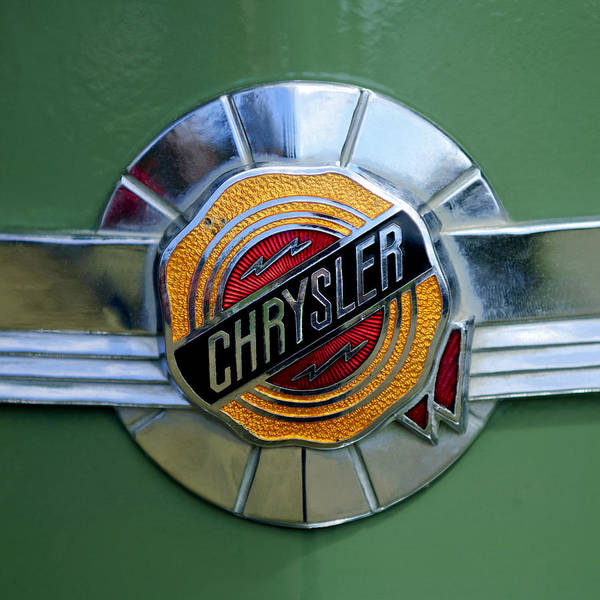 Photograph - 1950 Chrysler Windsor Emblem by Jill Reger