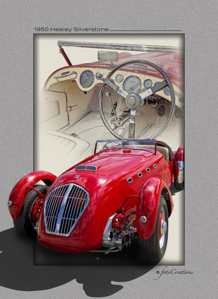 Cockpit Digital Art - 1950 Healey Silverstone by Roger Beltz