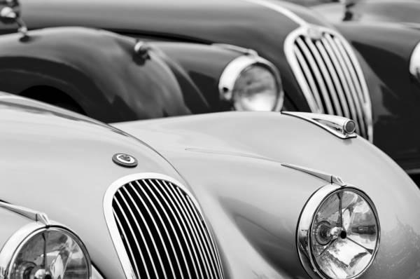 Photograph - 1950 Jaguar Xk120 Roadster Grille 2 by Jill Reger