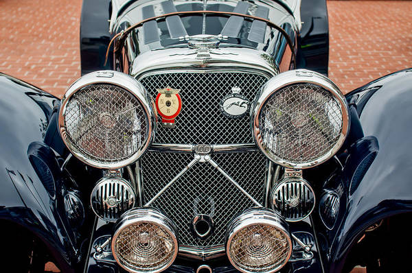 Photograph - 1950 Jaguar Xk120 Roadster Grille by Jill Reger
