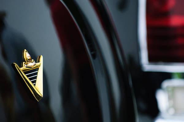 Photograph - 1950 Lincoln Cosmopolitan Henney Limousine Rear Emblem by Jill Reger