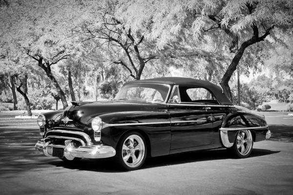 Photograph - 1950 Oldsmobile 88 -004bw by Jill Reger