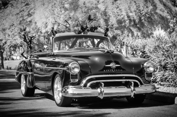 Photograph - 1950 Oldsmobile 88 -105bw by Jill Reger