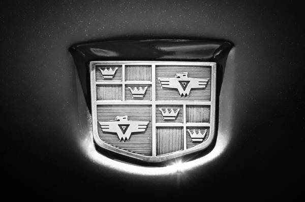 Photograph - 1950 Studebaker Champion Logo -0623bw by Jill Reger