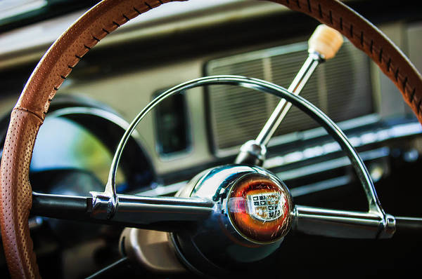 Photograph - 1950 Studebaker Champion Steering Wheel -1326c by Jill Reger