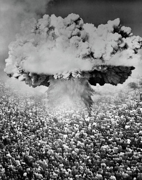 Holocaust Photograph - 1950s 1960s Atomic Bomb Symbolic by Vintage Images