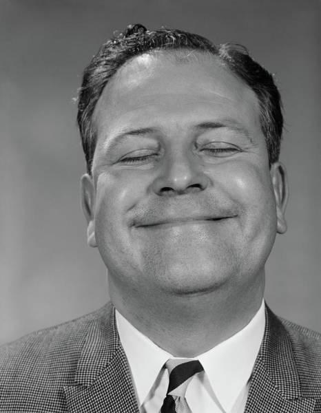 Self Confidence Photograph - 1950s 1960s Portrait Man Close-up Head by Vintage Images