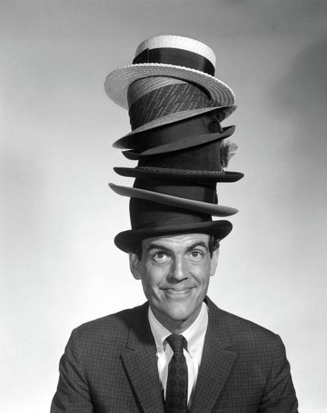 Talent Photograph - 1950s 1960s Portrait Of Man Looking by Vintage Images