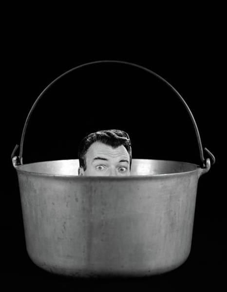 Difficult Photograph - 1950s 1960s Symbolic Montage Portrait by Vintage Images