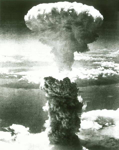 Holocaust Photograph - 1950s Atomic Bomb Explosion Mushroom by Vintage Images