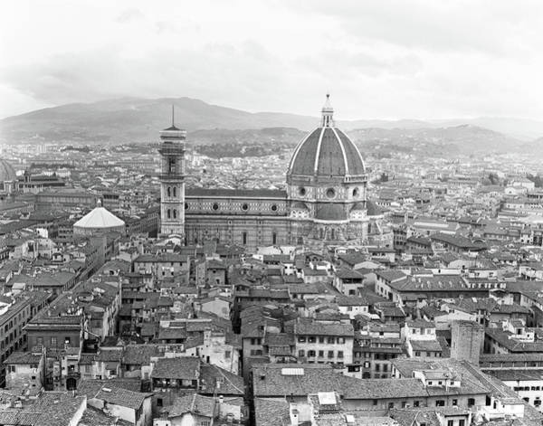 Duomo Di Firenze Wall Art - Photograph - 1950s Cathedral Santa Maria Del Fiore by Vintage Images