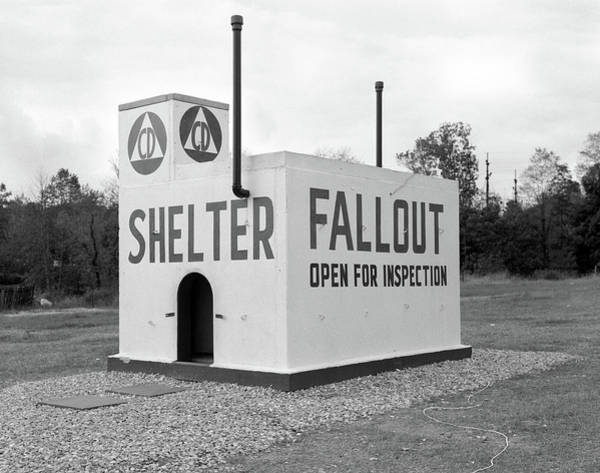 Holocaust Photograph - 1950s Civil Defense Fallout Shelter by Vintage Images