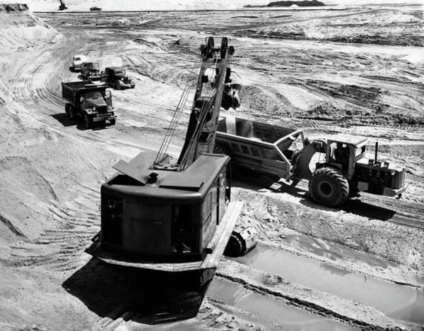 Bulldozer Photograph - 1950s Construction Site Excavation by Vintage Images