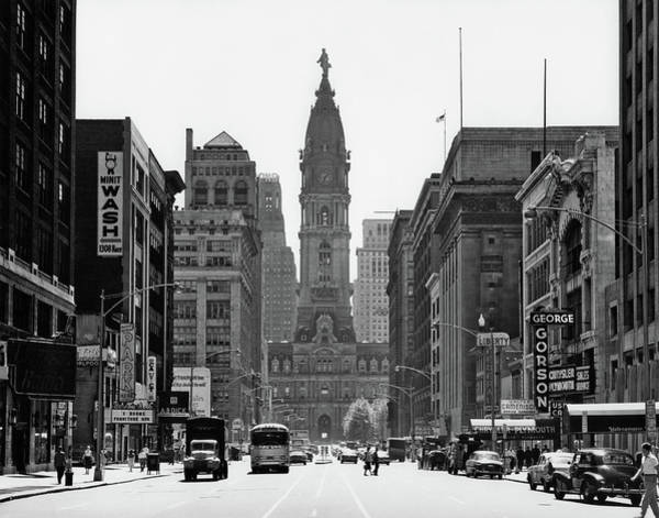 Wall Art - Photograph - 1950s Downtown Philadelphia Pa Usa by Vintage Images