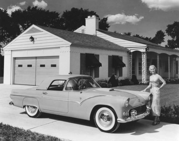 Wall Art - Photograph - 1950s Ford Thunderbird by Underwood Archives