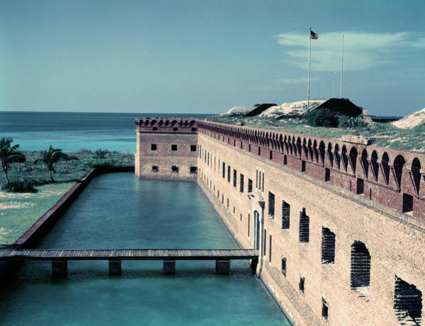 Gulf State Park Photograph - 1950s Fort Jefferson Largest Masonry by Vintage Images
