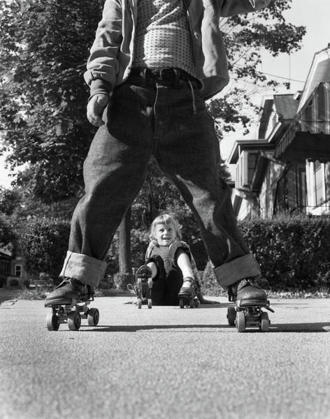 Thru Photograph - 1950s Little Boy And Girl Playing by Vintage Images