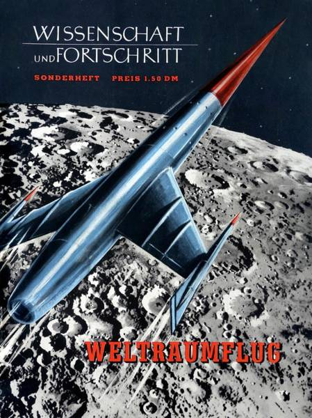 Front Page Photograph - 1950s Magazine On Spaceflight by Detlev Van Ravenswaay