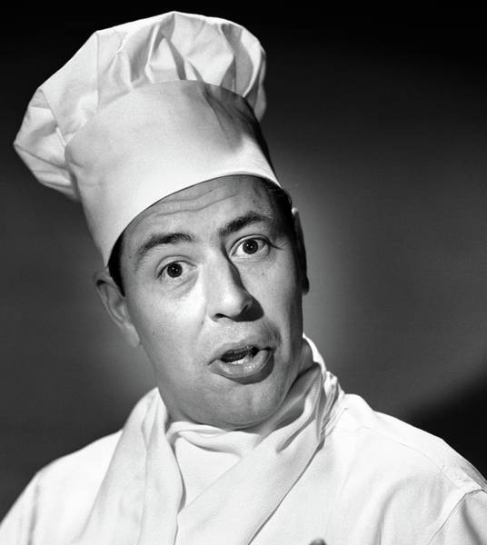 Wall Art - Photograph - 1950s Portrait Man Chef Humorous by Vintage Images
