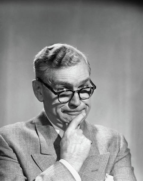 Disgusting Photograph - 1950s Portrait Middle-aged Older Man by Vintage Images