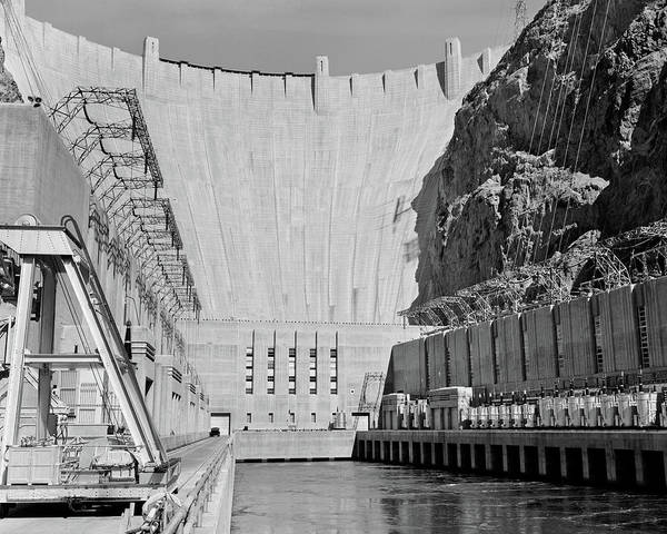 Wall Art - Photograph - 1950s Shot Of Hoover Dam Taken From End by Vintage Images