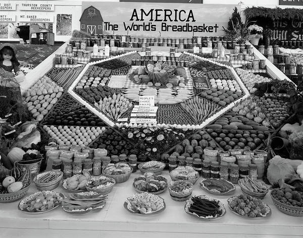 Milk Farm Photograph - 1950s Spread Of Farm Produce And Other by Vintage Images