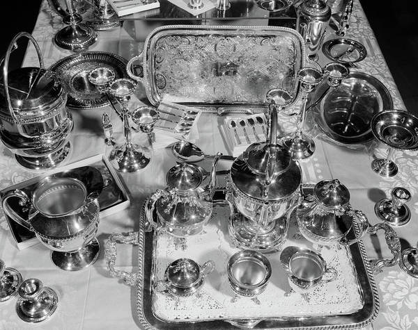 Setters Photograph - 1950s Still Life Overhead View by Vintage Images