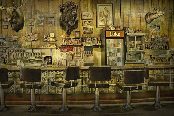 Moose Art Photograph - 1950s Style Diner In Western Montana by Randall Nyhof