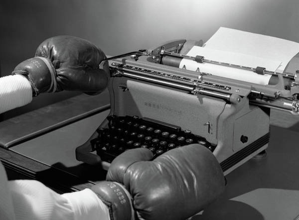 Difficult Photograph - 1950s Symbolic Hands Wearing Boxing by Vintage Images