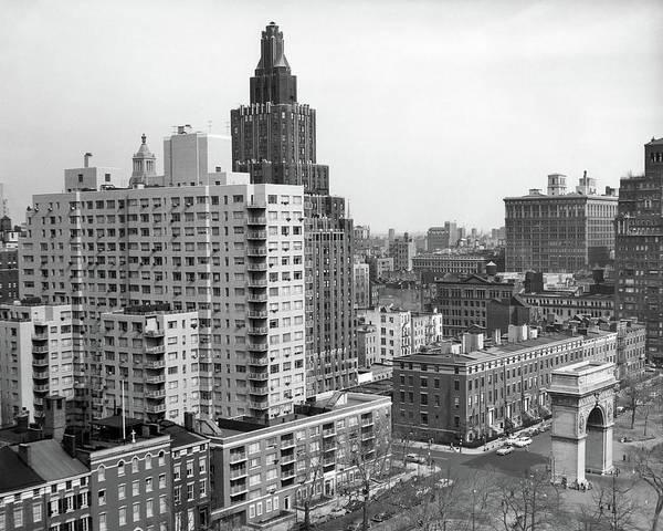 Washington Square Park Wall Art - Photograph - 1950s View Washington Square North by Vintage Images