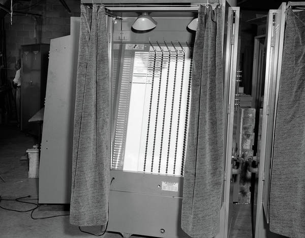 Poll Photograph - 1950s Voting Booth Machine With Curtain by Vintage Images