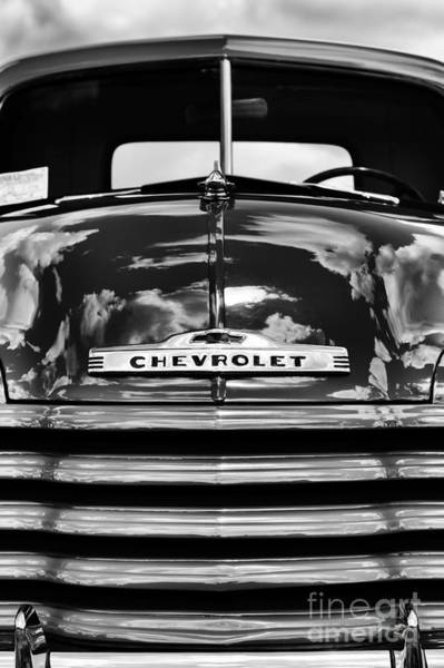 Pick Up Truck Photograph - 1951 Chevrolet Pickup Monochrome by Tim Gainey