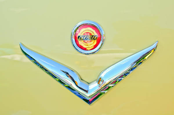 Photograph - 1951 Chrysler New Yorker Convertible Emblem by Jill Reger