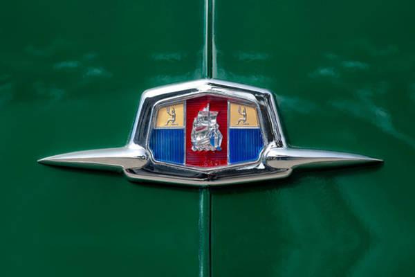 Plymouth Photograph - 1951 Plymouth Suburban Emblem by Jill Reger