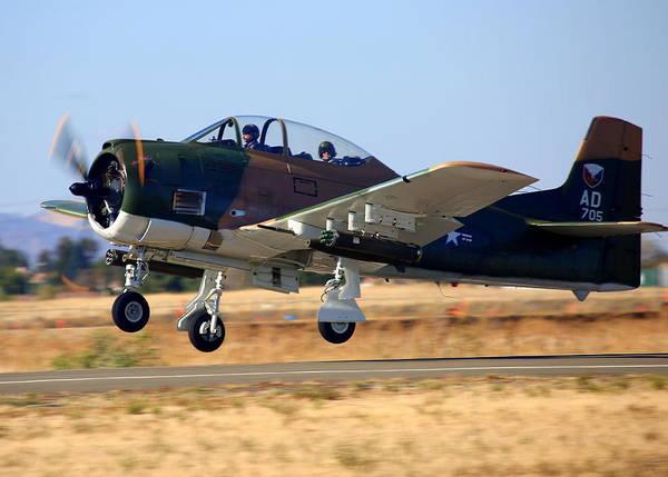 Photograph - 1951 T-28a Trojan Take-off N51705 by John King