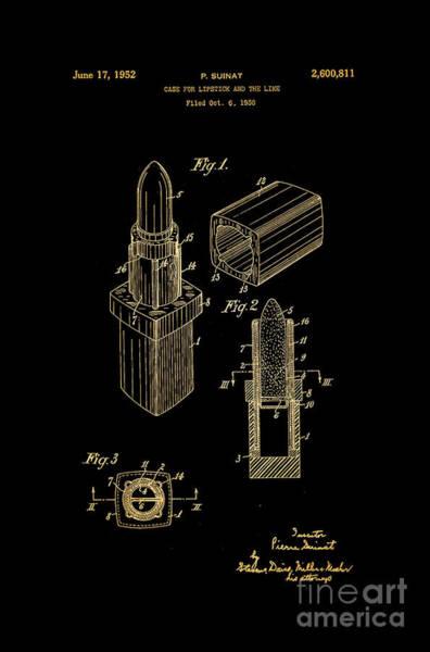 Louis Vuitton Digital Art - 1952 Chanel Lipstick Case 10 by Nishanth Gopinathan