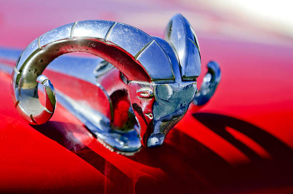 Vintage Hood Ornaments Photograph - 1952 Dodge Ram Hood Ornament 2 by Jill Reger
