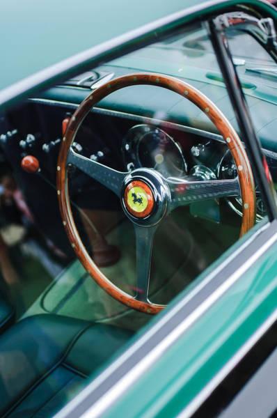 Photograph - 1952 Ferrari 212 Inter Vignale Coupe Steering Wheel Emblem by Jill Reger