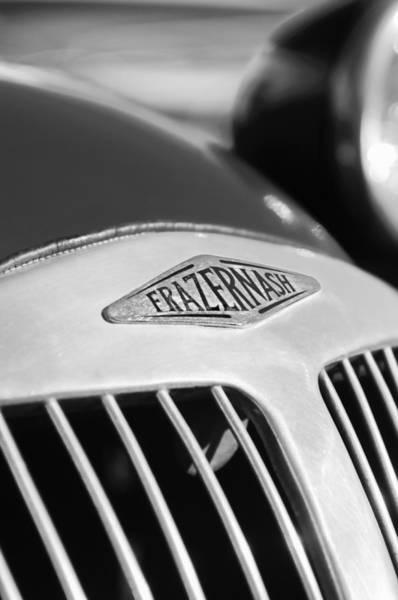 Photograph - 1952 Frazer-nash Le Mans Replica Mkii Competition Model Grille Emblem by Jill Reger