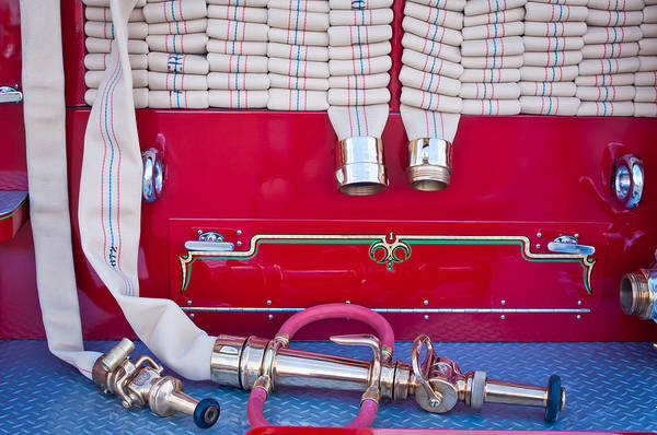 Photograph - 1952 L Model Mack Pumper Fire Truck Hoses by Jill Reger