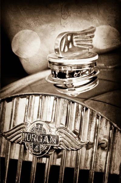 Photograph - 1952 Morgan Plus 4 Hood Ornament - Emblem by Jill Reger