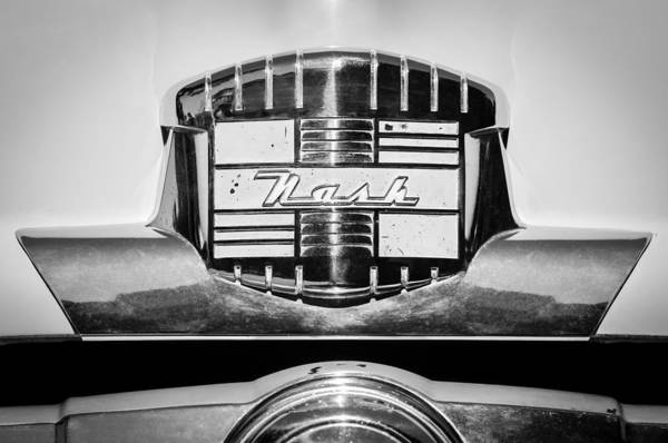 Photograph - 1952 Nash Rambler Greenbrier Station Wagon Emblem by Jill Reger