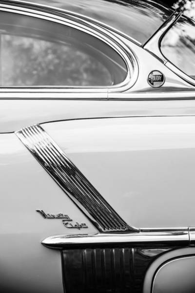 Photograph - 1952 Oldsmobile 98 Holiday Hardtop Side Emblem -1454bw by Jill Reger