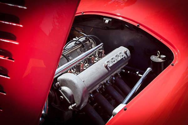 Photograph - 1952 Osca Mt4 1100 Engine by Jill Reger