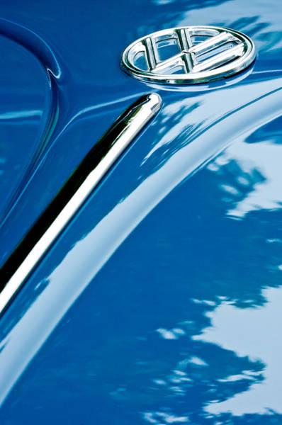 Vw Bug Photograph - 1952 Volkswagen Vw Bug Hood Emblem by Jill Reger