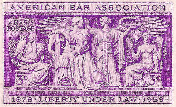 Stamp Collecting Photograph - 1953 American Bar Association Postage Stamp by David Patterson