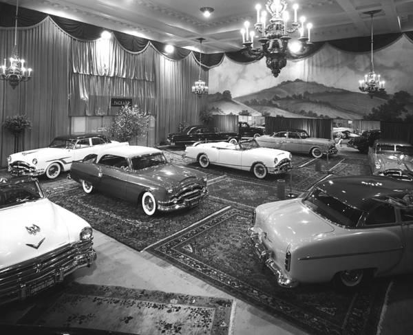 Auto Show Photograph - 1953 Auto Show by Underwood Archives