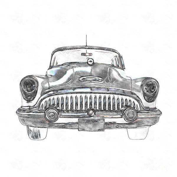 Photograph - 1953 Buick Roadmaster Fe by Edward Fielding