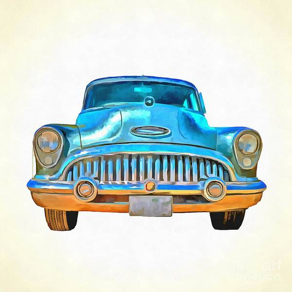 Photograph - 1953 Buick Roadmaster Pop Art by Edward Fielding