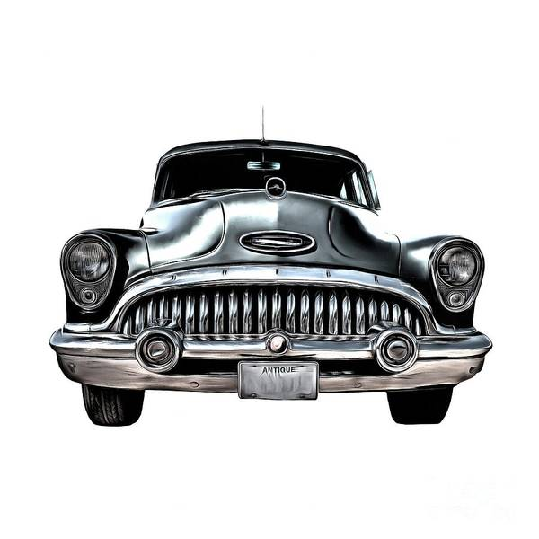 Photograph - 1953 Buick Roadmaster Silver by Edward Fielding